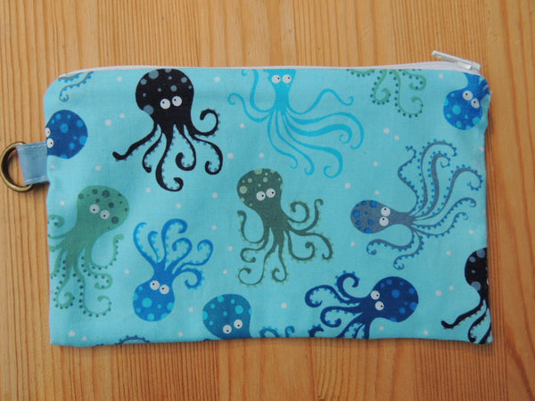 Reusable Zipper Sandwich & Snack Bags BPA Free Eco Friendly Set of 2 Octopus sea world print - groovygurls