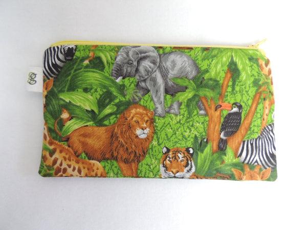 Reusable Zipper Sandwich & Snack Bags Eco Friendly Jungle Animal Print - groovygurls