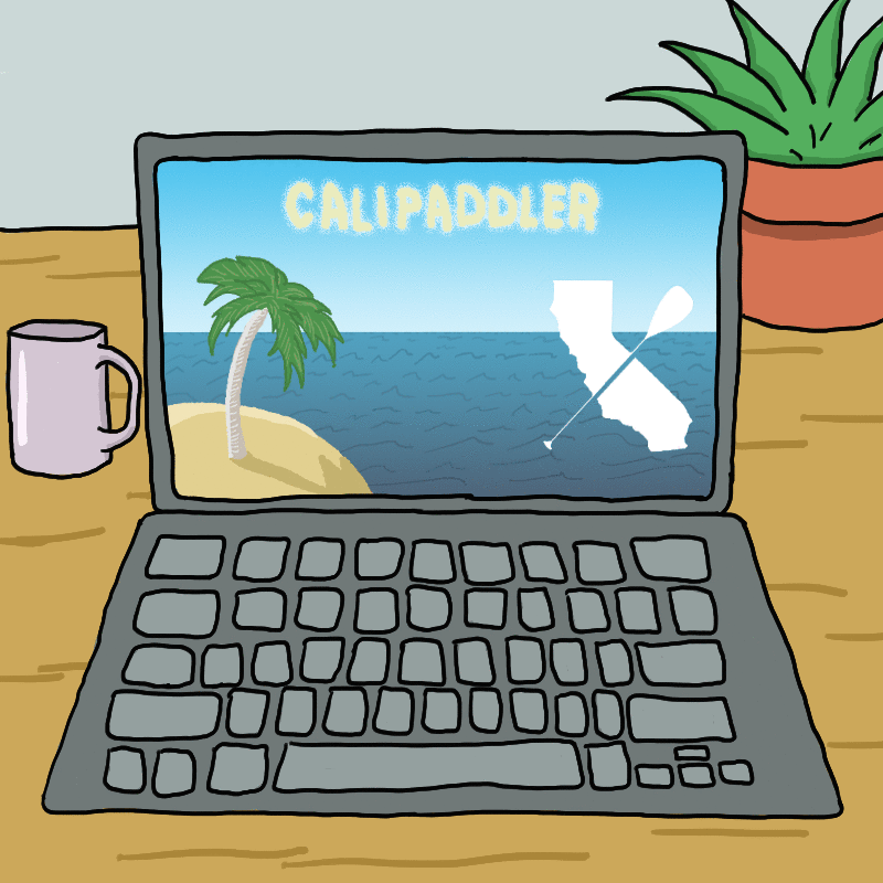 Free Downloadable Cali Paddler Zoom Background