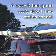 The reunion of a paddler to their stolen canoe - a feel good story!