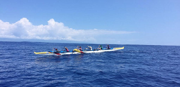 Outrigger Canoe Mid-Channel Crossing