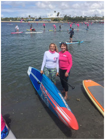 Meeting Starboard Dream Team rider Izzi Gomez at Standup for the Cure