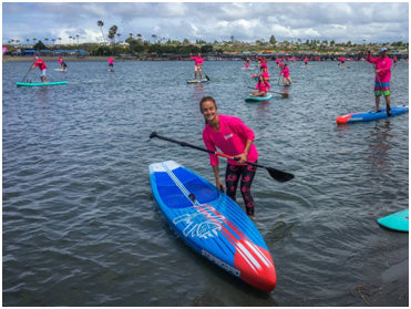 A sea of pink - with The Paddle Academy's Jaime Donnelly