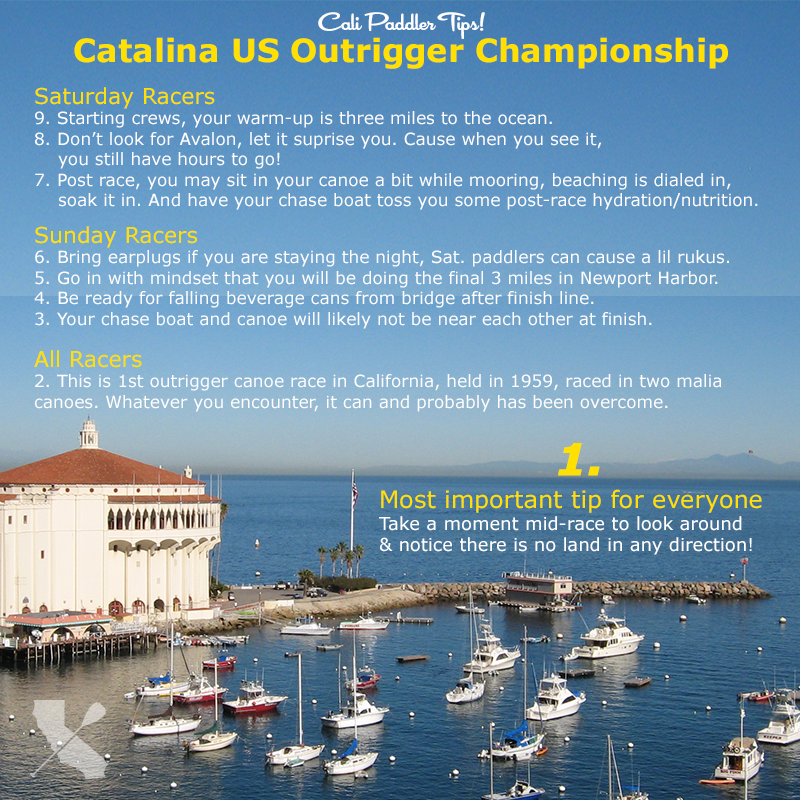 Tips for Catalina Crossing Outrigger Canoe Race