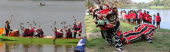 Dragon Boat Cancer Rose Ceremony and Dragon Dance