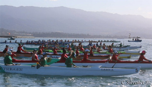 Outrigger Canoe Starting Line