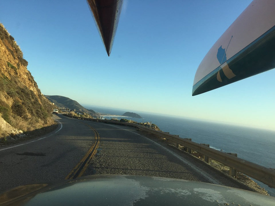 Driving towards Point Sur and following the Van to make sure it drives ok