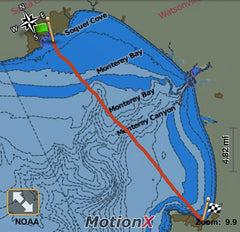 Monterey Bay Crossing - Map