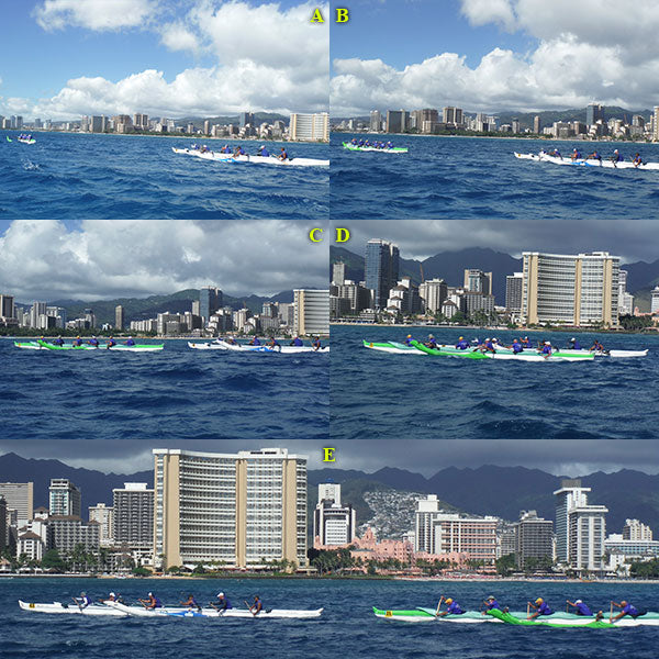 Outrigger Canoes Racing