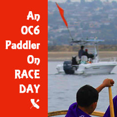 An OC6 Paddlr On Race Day