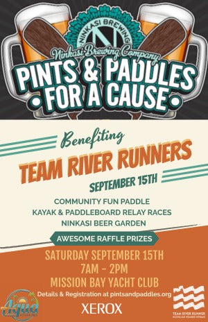 Pints and Paddles for a Cause Team River Runner