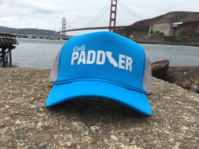 Metallic Silver Cali Paddler Trucker Hat