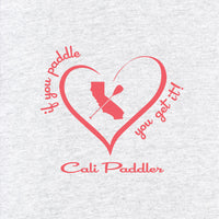 """i Heart Cali Paddler"" - Raglan 3/4 Shirt"