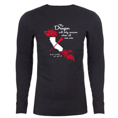 """The Dragon"" - Charcoal Long Sleeve Thermal (Unisex)"