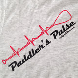 """Paddler's Pulse"" - Heather White Crew Shirt"
