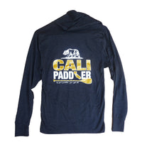 """CALI-PADDLER"" Golden State Heather Black Hoody Shirt (Unisex)"