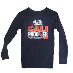 """CALI-PADDLER"" - Black Long Sleeve Thermal Shirt (Unisex)"
