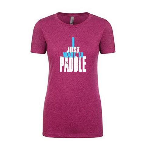 """I Just Want To Paddle"" - Fuscia Baby Doll Shirt"