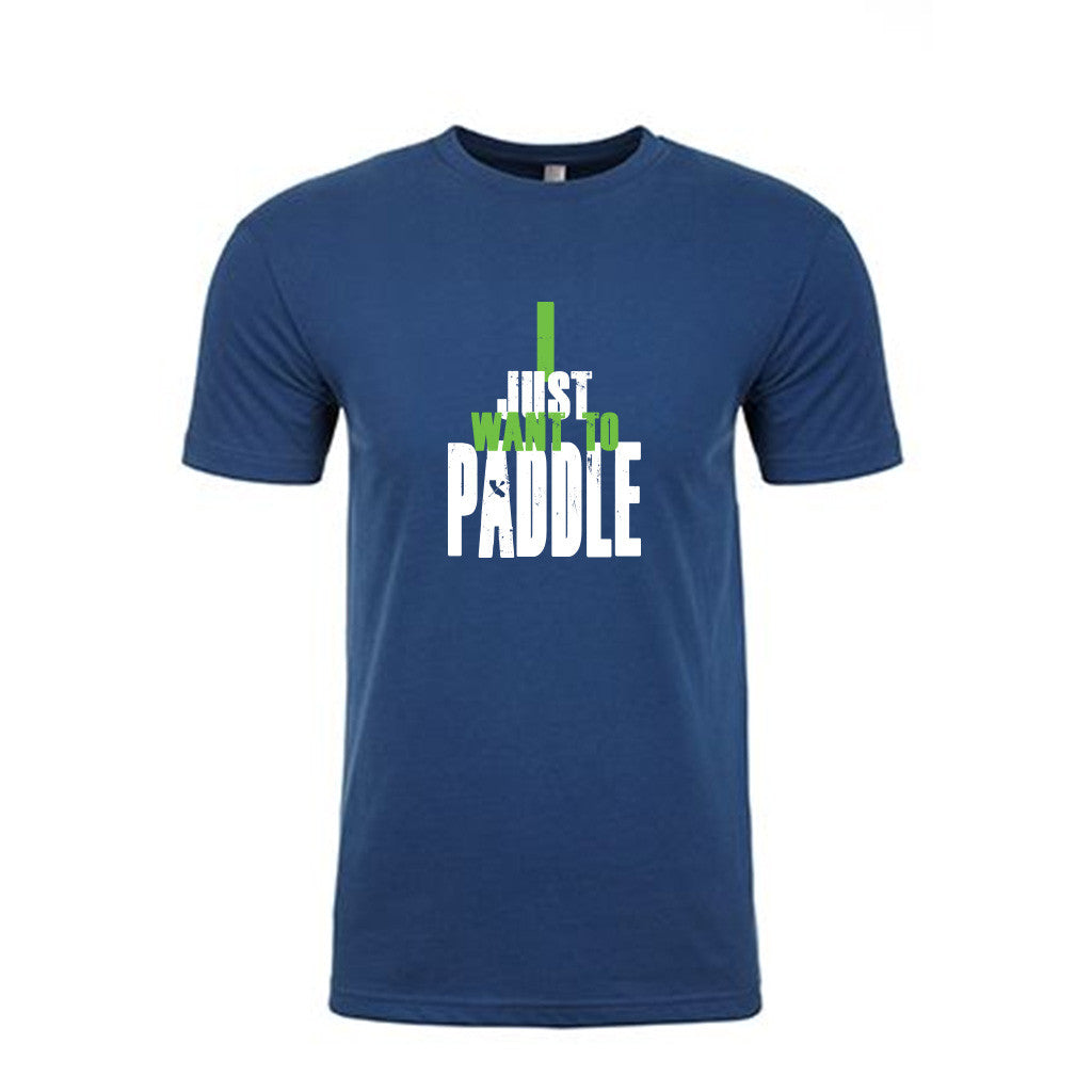 """I Just Want To Paddle"" - Cool Blue Crew Shirt"