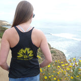 Wilder Sunflower Black Racerback Tank