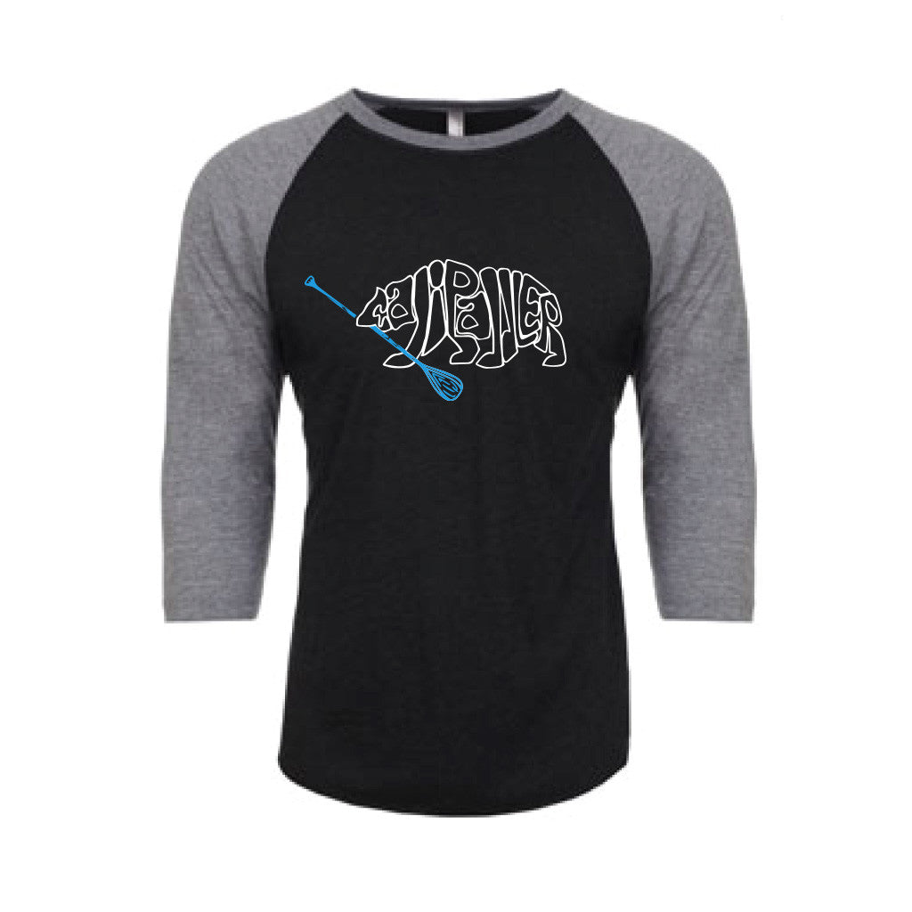 Letter Bear Black-Grey Raglan (Unisex)