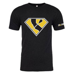 Super Paddler Vintage Black T-Shirt