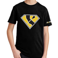 Super Paddler Kids Black T-Shirt