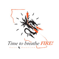 Time to Breathe Fire White-Grey Tank-Top