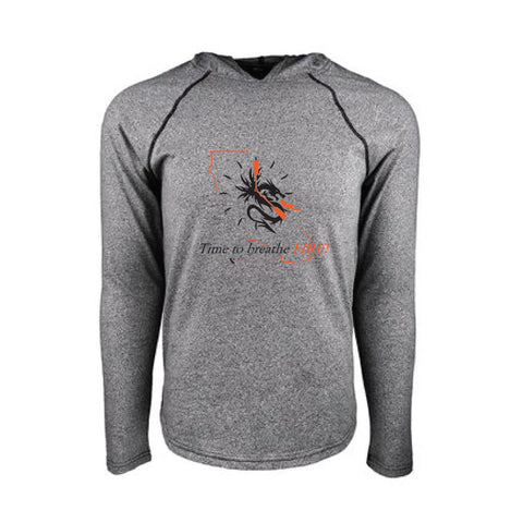 Time to Breathe Fire Mock-Twist Hoodie