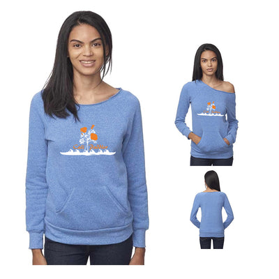 Golden Poppy Recycled Tri-Blend Pocket Sweatshirt