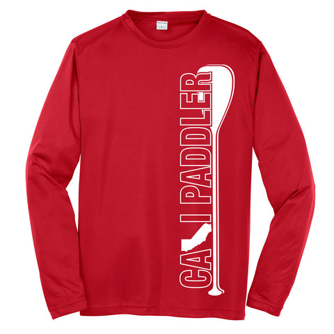 Cali Paddler Red Long-Sleeve Unisex Jersey