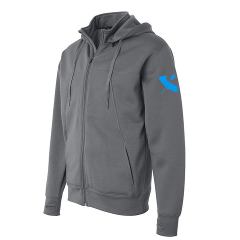 """CALI-PADDLER"" Poly-Tech Water-Resistant Hooded Zip Sweatshirt"