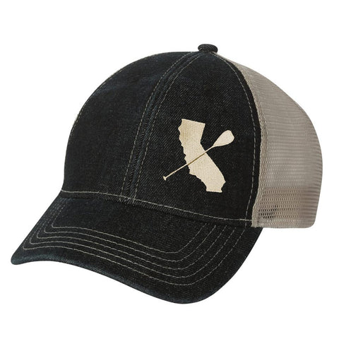 Low Profile Denim Twill Mesh Hat
