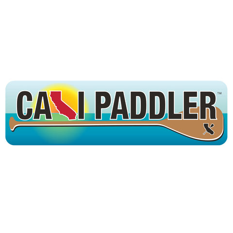 """Cali Paddler"" Blue Horizons Sticker"