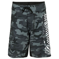 Black Camo Paddle Board Shorts Front