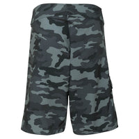 Black Camo Paddle Board Shorts Back