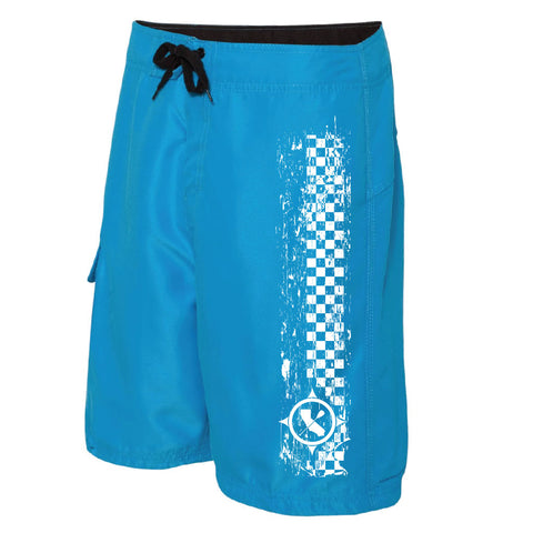 Blue Paddle Board Shorts Side