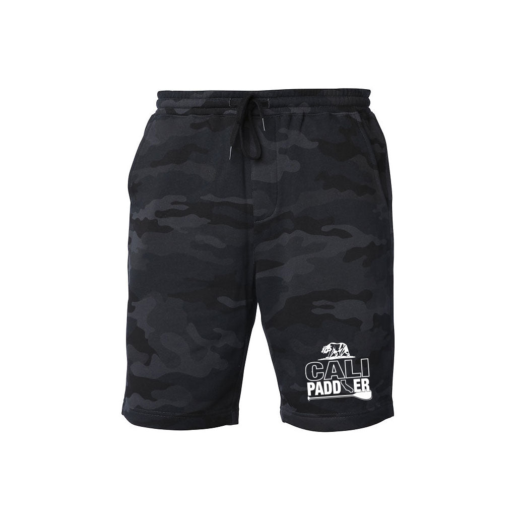 Black Camo Fleece Gym Shorts