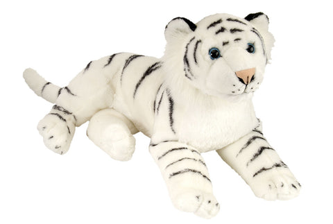 Cuddlekins' Laying White Tiger  (16 in) by The Wild Republic