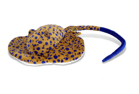 Cuddlekins Adult Blue Spotted Stingray (15 in) by The Wild Republic