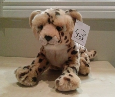 "Cheetah cub plush (12"") by Save Our Space"