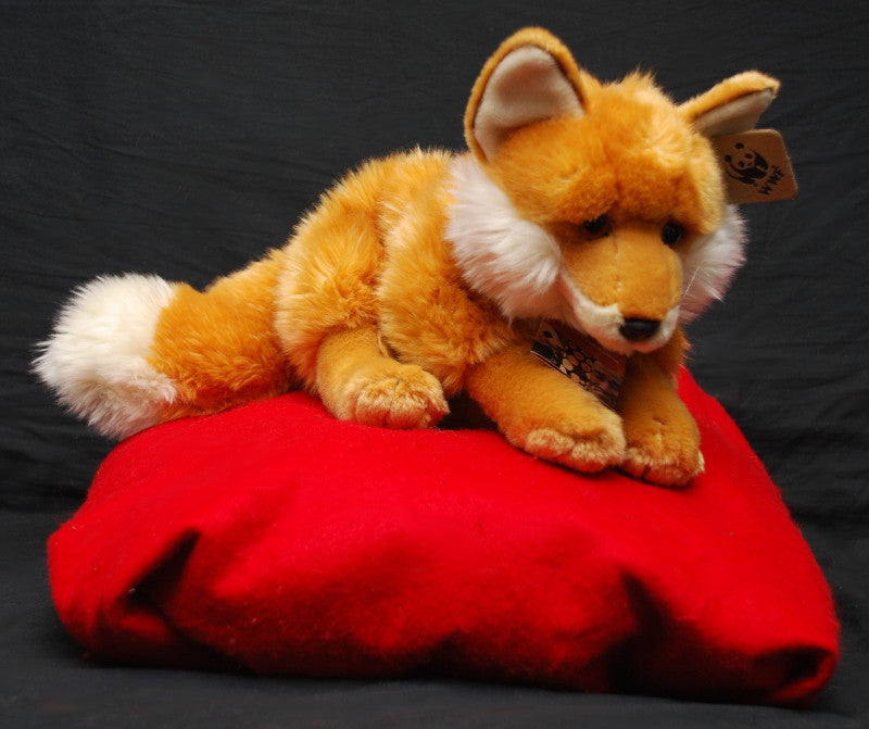 "Living Planet Laying Red Fox plush (15"") by WWF"