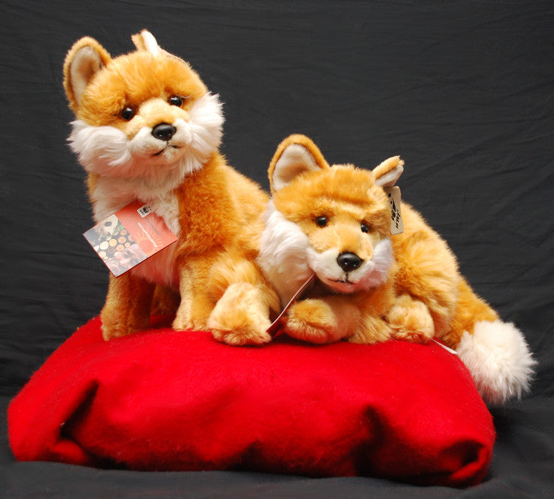 Living Planet Red Fox Plush - 2 poses by WWF