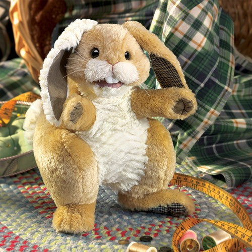 Folkmanis Patchwork Rabbit Puppet