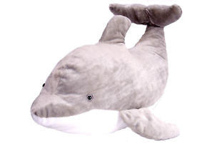 Cuddlekins Jumbo Dolphin (30 in) by The Wild Republic