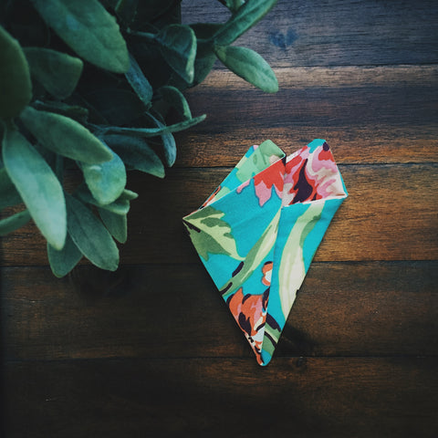Garden Paradise Pocket Square - Lord and Lady