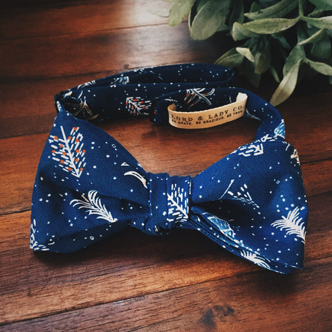Dashing Through the Snow Bow Tie - Lord and Lady