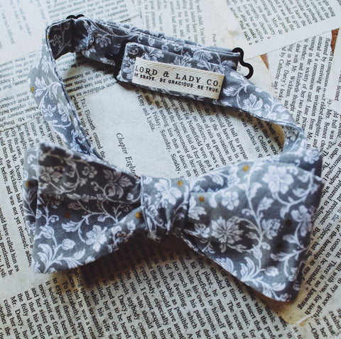Manderly Grey Bow Tie