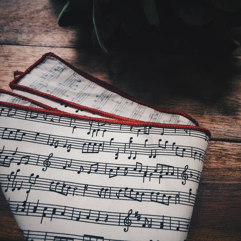 Music Note Pocket Square - Lord and Lady