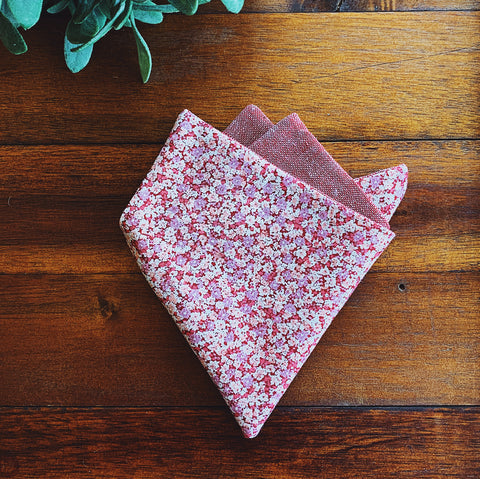 Rose Chambray Pocket Square